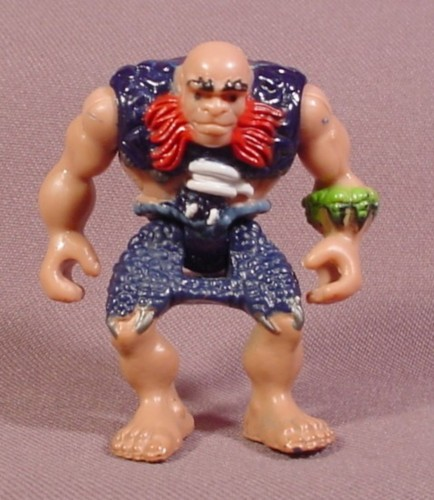 Fisher Price Imaginext Caveman Figure, Blue Clothes, Red Beard, Bald Head, 2 1/2 Inches Tall, G8748