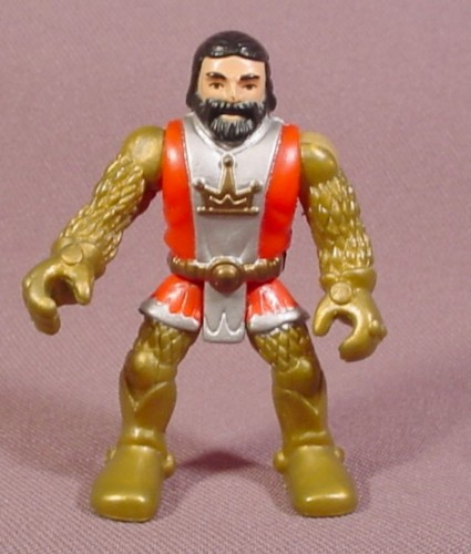 Fisher Price Imaginext Knight Figure, Gold Chain Mail, Red Tunic Silver Stripe 78351