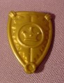Fisher Price Imaginext Gold Teardrop Shaped Shield, Crown Design, 1 3/8 Inches Tall, 78365