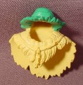 Fisher Price Imaginext Yellow Woven Grass Cowl With Woven Green Frond Hat, B2496