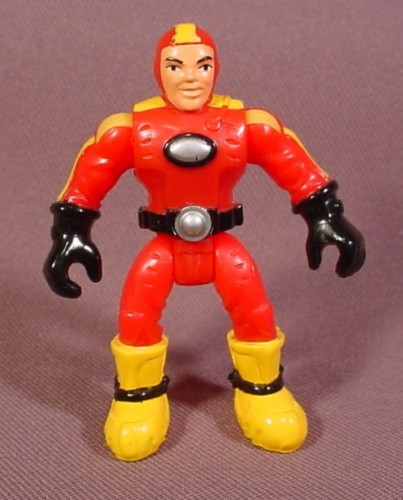 """Fisher Price Imaginext Deep Sea Diver Figure, Red & Yellow Wetsuit, 2 1/2"""" Tall, B0332"""