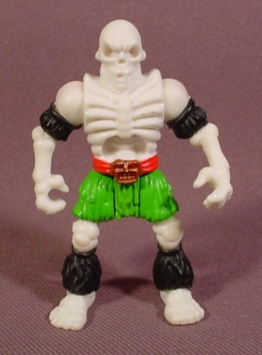 Fisher Price Imaginext Glow In The Dark Skeleton Pirate Figure, Green Pants, 2 1/2 Inches Tall