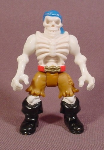 Fisher Price Imaginext Glow In The Dark Skeleton Pirate Figure, Brown Pants