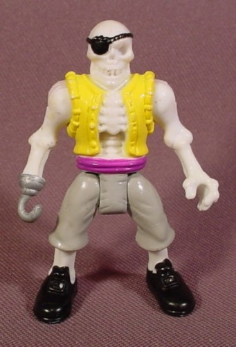 Fisher Price Imaginext Glow In The Dark Skeleton Pirate Figure, Yellow & Gray Clothes