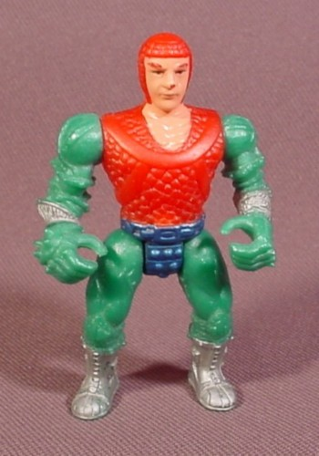 "Fisher Price Imaginext Knight Figure, Red Chain Mail, Green Arms & Legs, 2 1/2"" Tall"
