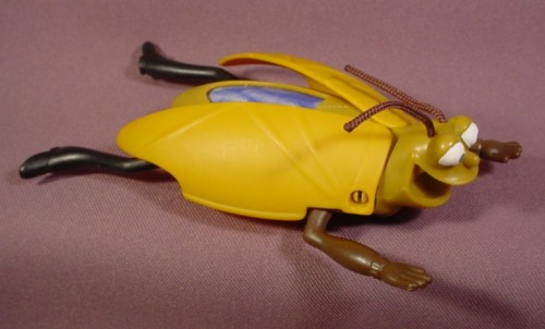 Mcdonalds 2007 Bee Movie Wally The Water Bug Figure Toy Pull Back & Rolls Forward