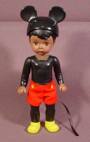 Madame Alexander African American Disney Mickey Mouse Boy Doll, 5 3/8 Inches Tall, 2004 McDonalds