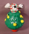 Mcdonalds 101 Dalmatians, Dog Inside Spinning Top Christmas Tree, 102