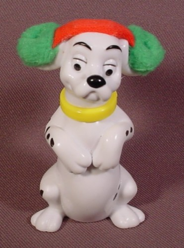 Mcdonalds 101 Dalmatians, Dog With Furry Green & Red Ear Muffs, 102