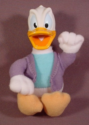 Disney's House Of Mouse Plush Donald Duck Doll Figure, 5 Inches Tall, 2001 McDonalds