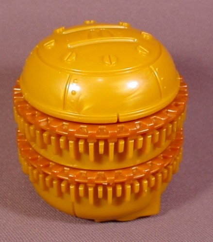 """Mcdonalds 2002 Battlebots #7, Pull Back Toy With Spinning Chain Blades, 2 1/2"""" Tall"""