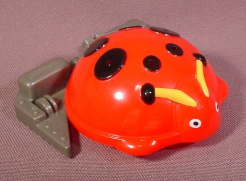 """Mcdonalds 2002 Battlebots #2, Pull Back Toy With Lady Bug Top, 3 1/4"""" Long"""