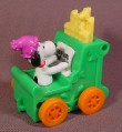 Snoopy On A Pipe Organ Car Toy, Pipes Move Up & Down As It Rolls, McDonalds