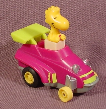 Peanuts Friction Racers Woodstock In A Grand Prix Racer, 2 1/2 Inches Long, 1989 McDonalds