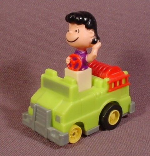 Peanuts Friction Racers Lucy In Fire Engine, 2 1/2 Inches Long