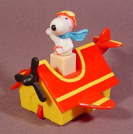 Peanuts Friction Racers Snoopy In Sopwith Camel Doghouse, 2 3/4 Inches Long