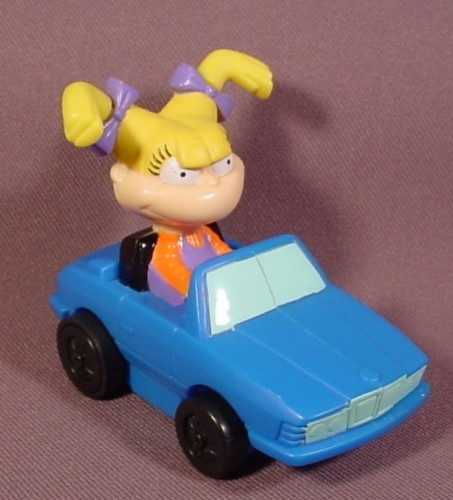 Rugrats Wind Blown Angelica In Pull Back Car Toy, 3 1/8 Inches Long, Pull It Back & It Rolls Forward