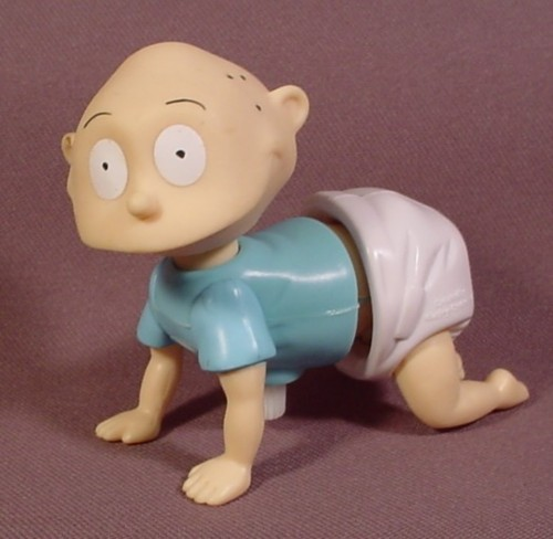 Rugrats Wind Up Crawling Tommy Baby Toy, 3 1/2 Inches Long, Wind Up And He Crawls Forward