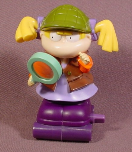 """Burger King 1998 Rugrats Wind Up Shirley Lock Holmes Angelica Toy, 3 1/2"""" Tall"""