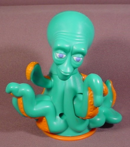Shark Tale Movie Flip N Stick Luca Octopus Figure Toy, 4 1/2 Inches Tall, Has A Base That Suctions