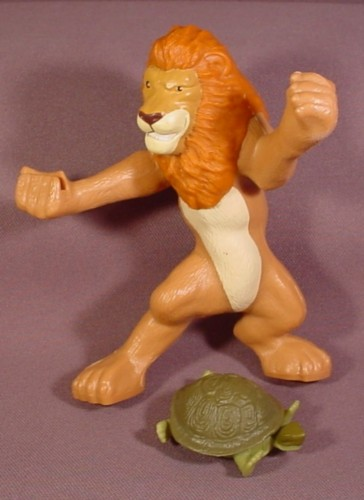 Mcdonalds 2006 The Wild Sampson The Lion Figure Toy, He Throws The Turtle
