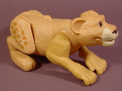 """Mcdonalds 2006 The Wild Ryan The Lion Cub Figure Toy, 4"""" Long, Wind Up And He Jumps"""