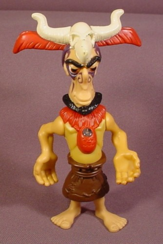 """Mcdonalds 2005 Tak Tlaloc Figure Toy, 5"""" Tall, Face Is Illuminated With A Red Light"""