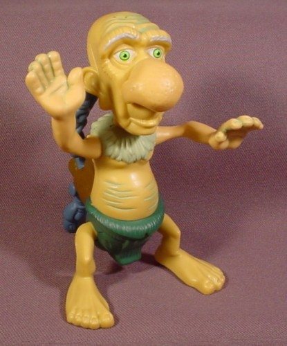 McDonalds 2005 Tak Jibolba Figure Toy, 4 1/4 Inches Tall, Spring Loaded At The Waist