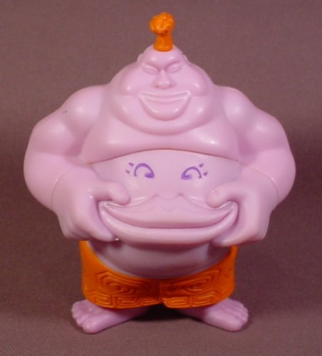 McDonalds 2005 Tak Belly Juju Figure Toy, 4 1/4 Inches Tall, His Rubber Belly Lips Open
