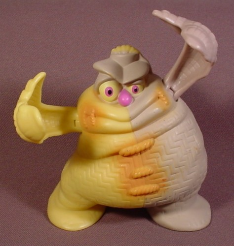 "Mcdonalds 2005 Tak Pins Figure Toy, 4 1/2"" Tall, Press Lever In Back To Make Arms Close"