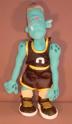 """Looney Tunes Space Jam Blanko Plush Toy 1996 12"""" Tall, 1996 Warner Brothers - RONS RESCUED TREASURES"""