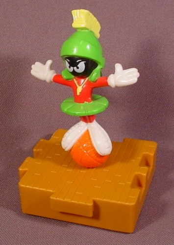 """Mcdonalds 1996 Looney Tunes Space Jam Marvin The Martian Toy 4"""" Tall Figure Moves"""