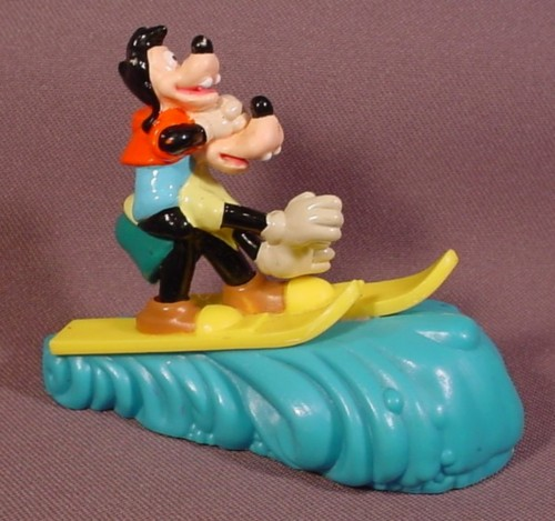 "Burger King 1995 Disney Goofy & Max Movie Water Skiing Toy, 3 1/2"" Long, Pull Back"
