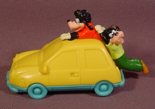 "Burger King 1995 Disney Goofy & Max Movie Runaway Car Toy, 3 1/2"" Long, Pull Back"