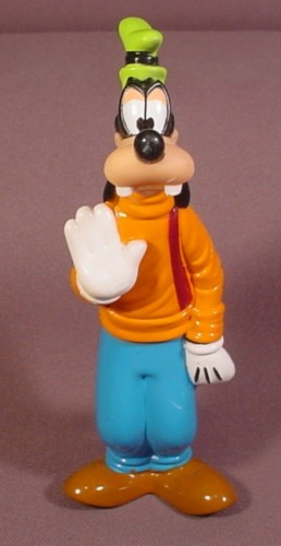 "Walt Disney Goofy Rubber Figure Toy, 5 5/8"" Tall, Soft Hollow Rubber Or Vinyl"