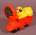 McDonalds 1996 Marvel Superheroes Jubilee On Red Motorcycle, 3 Inches Long