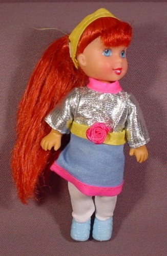 """Kid Kore 1995 Doll With Long Red Hair, 5"""" Tall"""