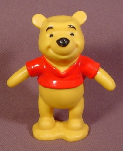 Disney Winnie The Pooh PVC Figure On Base, 2 7/8 Inches Tall