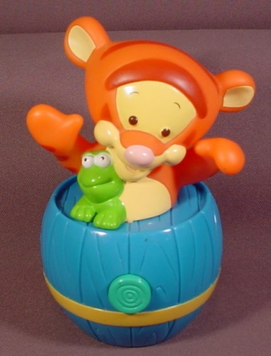 Fisher Price Fun Sounds Roll Around Tigger Toy, #B7854, Makes Funny Sounds