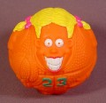 Wendy's Restaurant 1995 Ball Players Basketball Figure Toy, 3 1/4