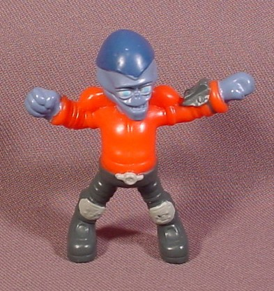 "Burger King 2002 The Martians Have Landed Red Martian PVC Figure, 2 1/2"" Tall"