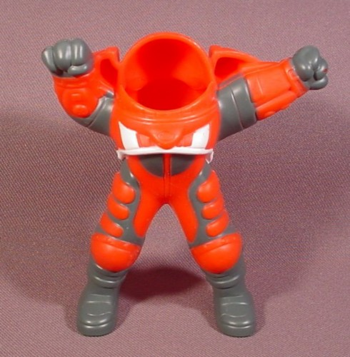 "Burger King 2002 The Martians Have Landed Red 2 Piece Spacesuit, 4"" Tall"