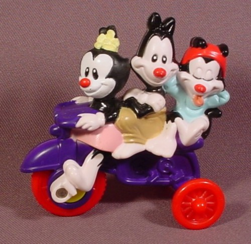 Animaniacs Bicycle Built For Trio Toy, 1993 McDonalds