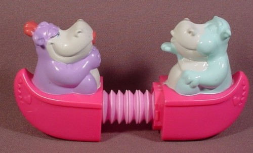 Animaniacs Hip Hippos Stretcher Toy, The 2 Sections Of The Canoe Can Be Pulled Apart, 1994 McDonalds