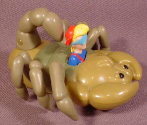 "Burger King 1998 Bug Riders Kid Vid On Scorpion Toy, 4 1/4"" Long"