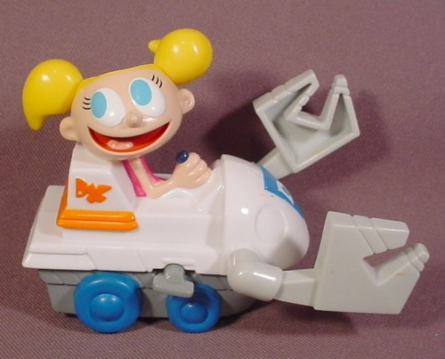 Dexter's Laboratory Dee Dee Dozer Toy, 4 Inches Long, Wind It Up And It Rolls Backwards