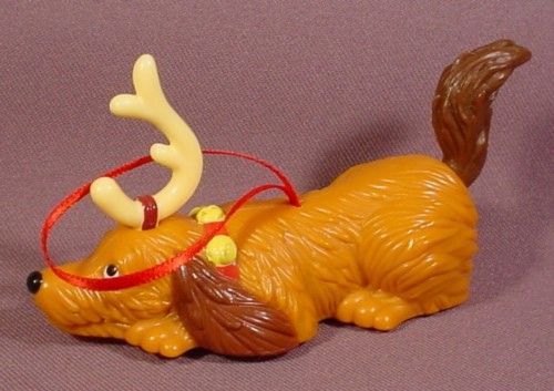 How The Grinch Stole Christmas Max The Dog With Antler Toy, Christmas Ornament, 3 3/4 Inches Long