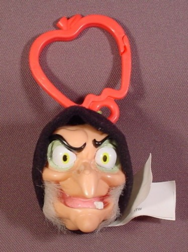 "Mcdonalds 2001 Snow White The Witch Plush With Clip, 2 1/2"" Tall"
