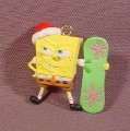Spongebob Squarepants Santa With Snowboard Miniature Mini PVC Figure