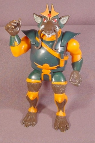 "1985 Thundercats Ratar-O Action Figure, 7"" Tall, LJN Telepix, Lever Moves Arms"